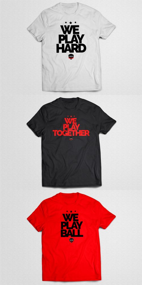 merchandise SVZW Basketbal T-shirts We play hard, we play together, we play ball